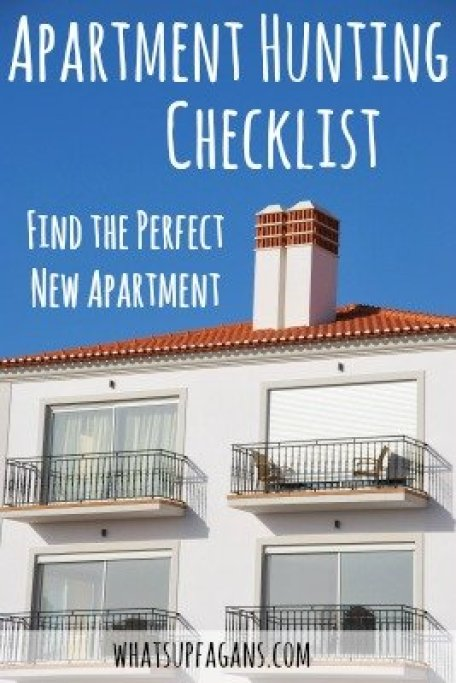 Awesome apartment hunting checklist for shopping for a new apartment home!