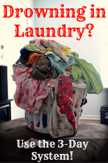Only do laundry for three days? Sounds like an awesome laundry system! I hate having piles of laundry everywhere, and always doing laundry.