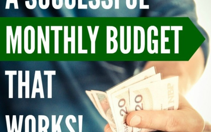 Create A Successful Monthly Budget That Works Free Excel Spreadsheet Template