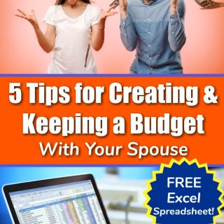 couple excitedly throwing money in the air as they learn how to create a monthly budget and use a monthly excel budget template which is free to download