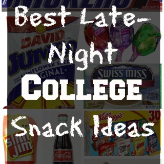 A good list of some late-night snack ideas, perfect for college students who are cramming and studying into the wee hours of the morning!