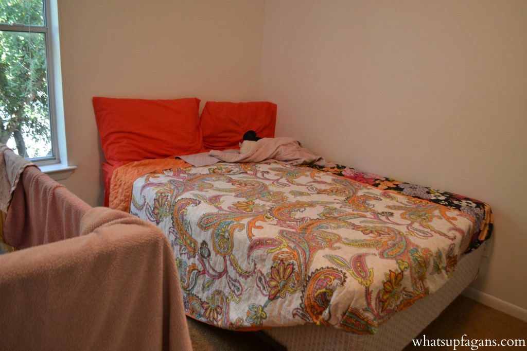 A great sleeping arrangement for twins as they enter the preschool or elementary school years is a full sized bed.
