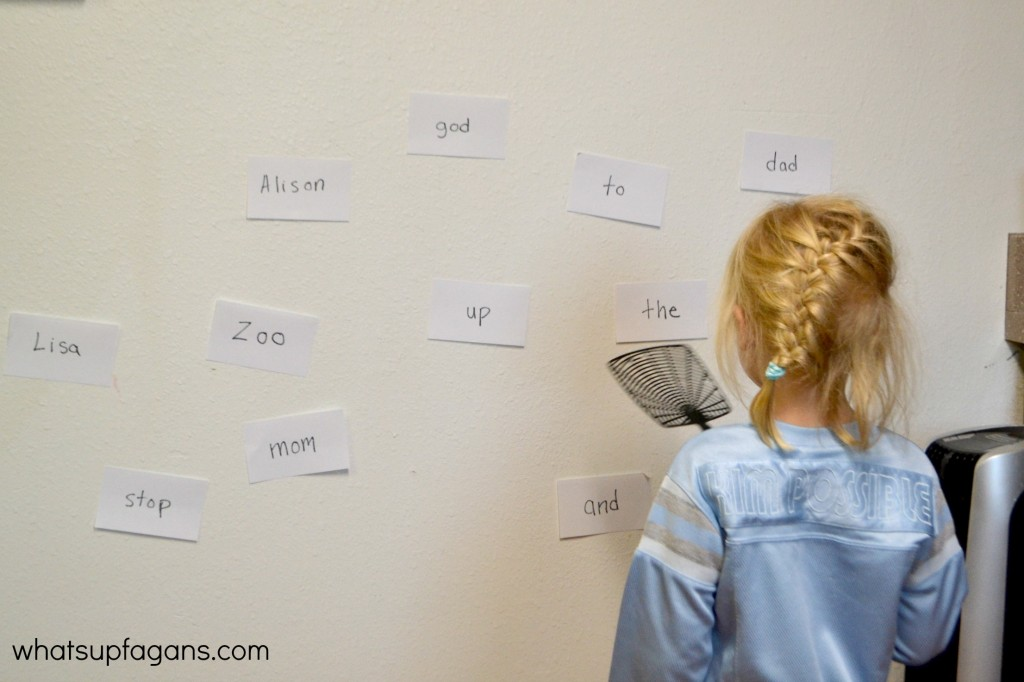 Sight Word Fly Swatter Game for Preschool