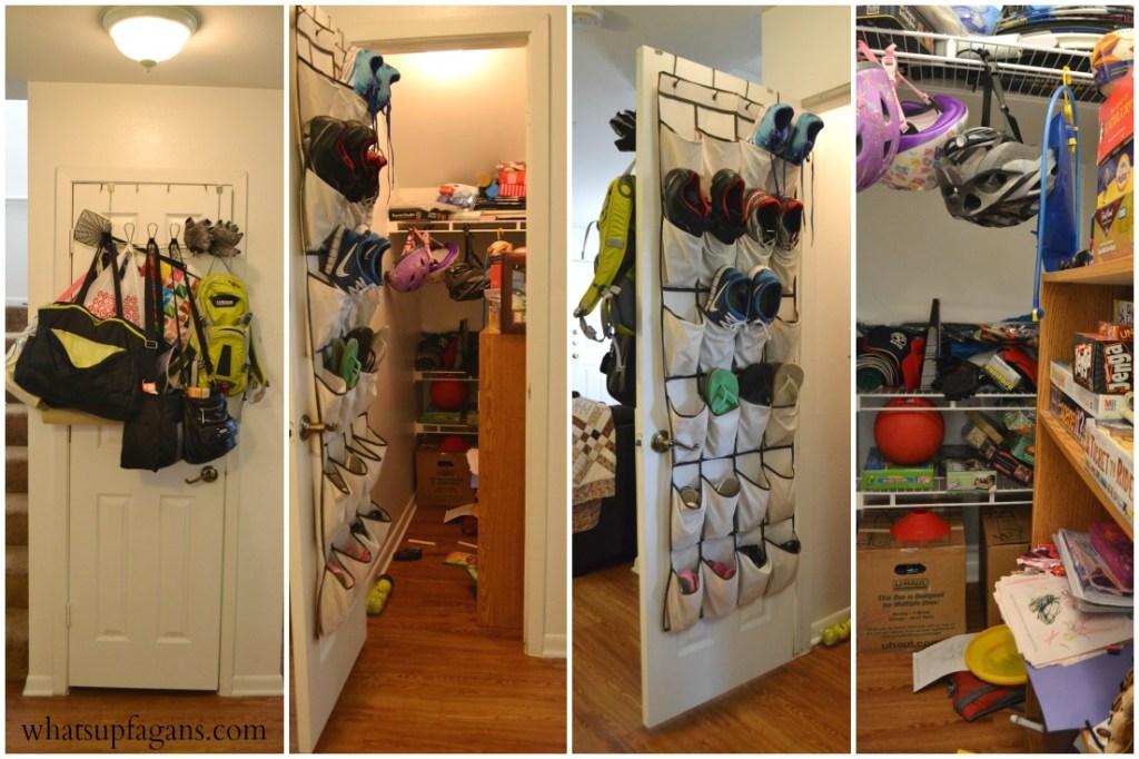 Organized family closet
