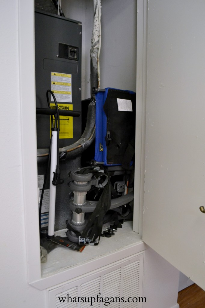 Organization - Small Apartment Utility Closet Use