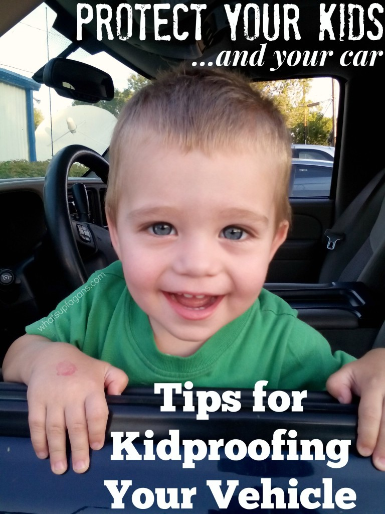 Great tips for both protecting your kids while driving, but also protecting your CAR from your kids!! Kidproofing as its best.