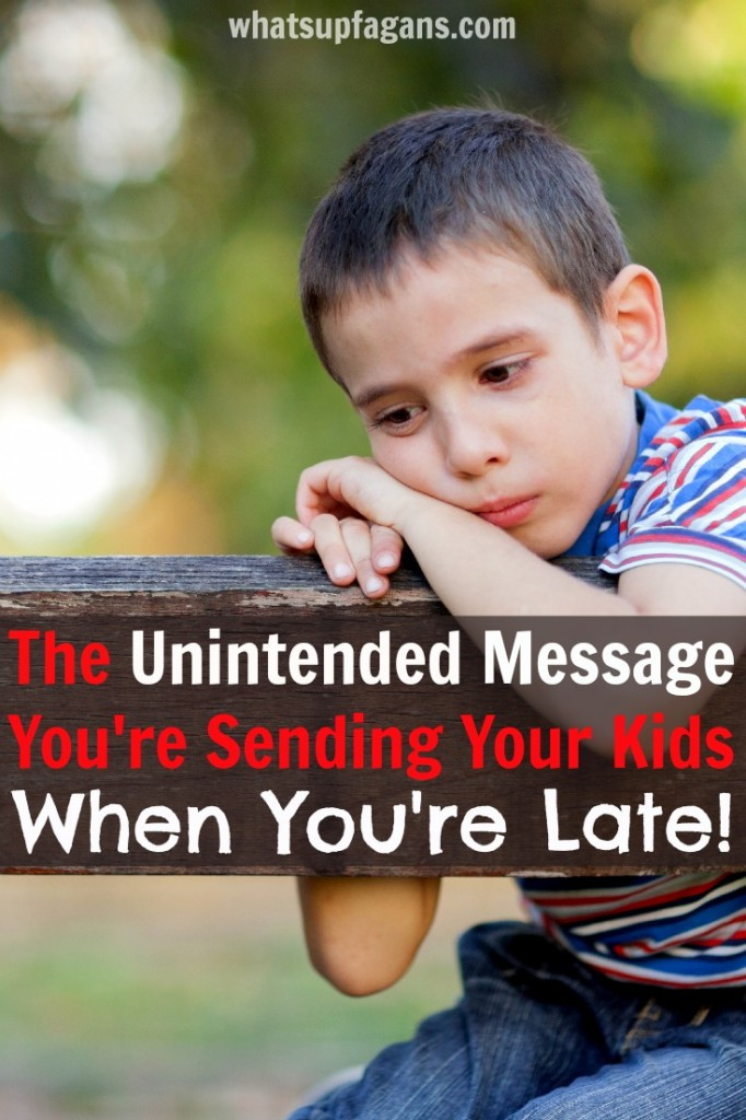 If you're always late, you really need to read this!! The truth is lateness affects kids more than you think.