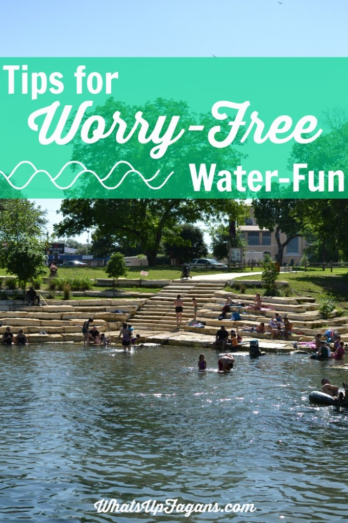 10 Tips for worry-free water-fun this summer at the pool, river, or wherever with young kids. Great tips for families!