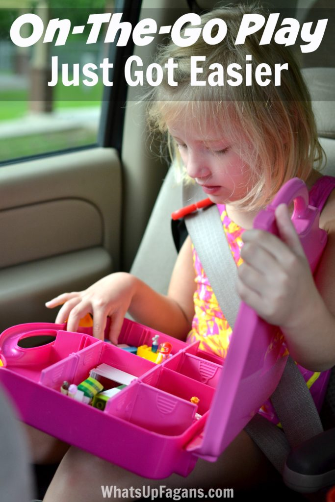 This is such a great product for kids! It really makes taking play on-the-go so much easier, which is great for summer roadtrips, errand running, or just general playtime or quiet time.