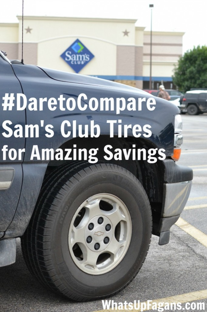 If you need new tires on your car, then you have to #DaretoCompare local stores with Sam's Club! They have such a great deal on tires and the service fees to install them.