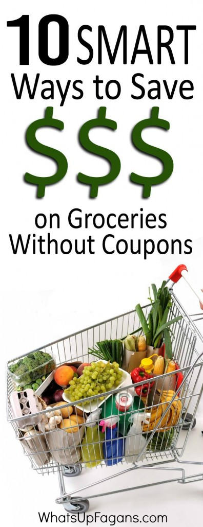 10 Smart ways how to save money on groceries without coupons because couponing can be hard.
