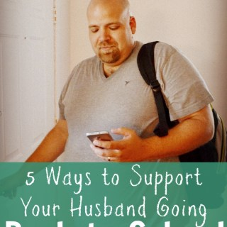I am glad we made the choice for my husband to go back to school but it can be hard! These are great tips to support him and our family as he gets his degree.