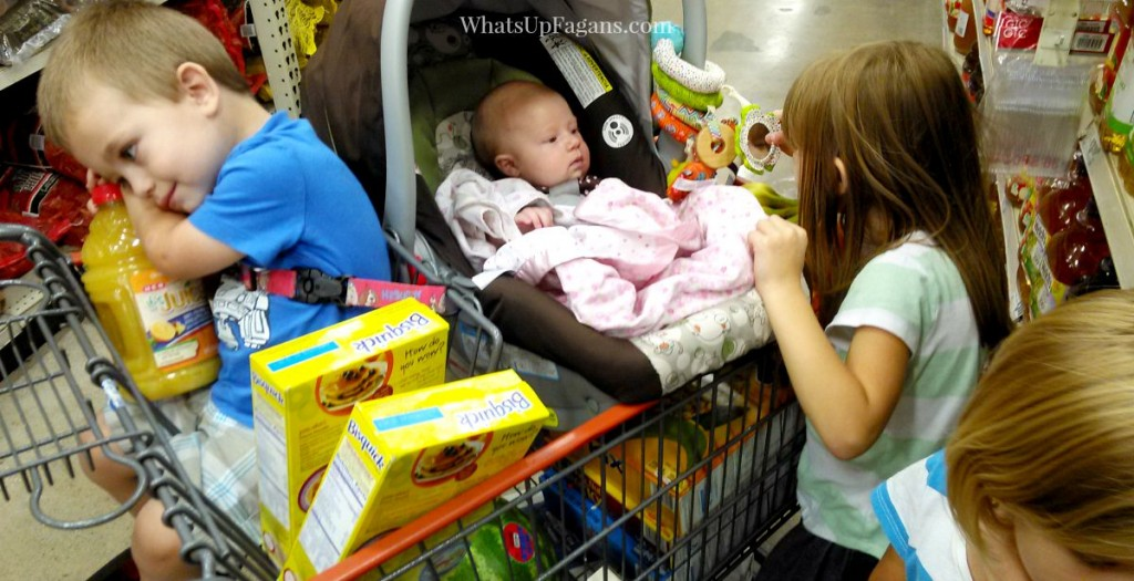 In case I ever need to know how to wrangle four kids at the grocery store as a mom. Good parenting tips too.