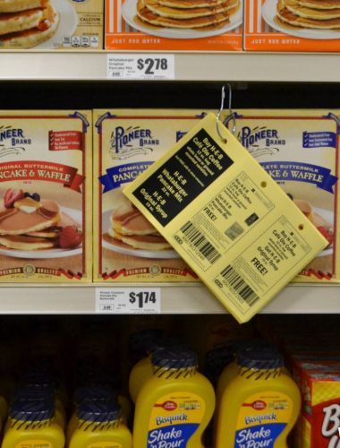 Love these yellow HEB coupons hanging around the store!