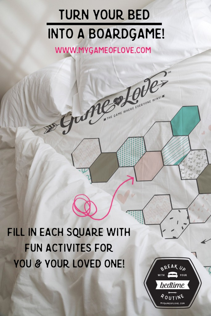 Game of Love Bedsheets at home date night idea
