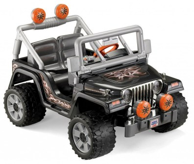 Outdoor play equipment power wheel jeep