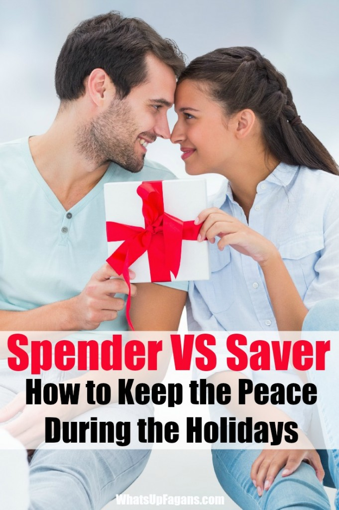 When one is the spender and the other is a saver it makes marriage rough, especially during the holiday Christmas shopping season! Great tips for making it work and keeping the peace.