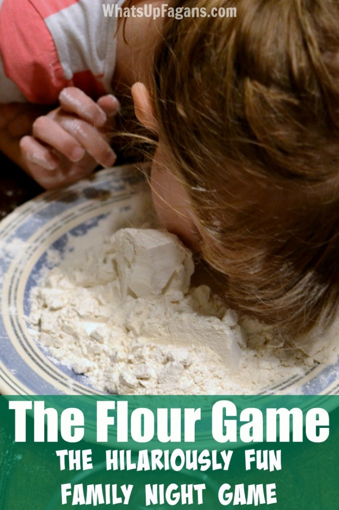 My family used to play this fun family night game when I was a kid. So funny! The Flour Game is the perfect game idea to play indoors, outdoors, for family reunions, or at whatever party.