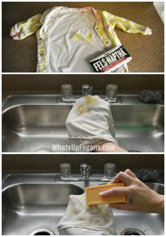 Great baby stain remover tips for poop stains set in clothes.
