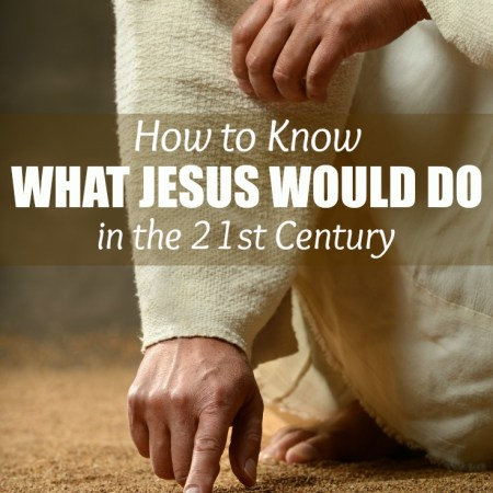 It can be really hard to know what Jesus would do today. He didn't live in a world like ours today. Love this insight into WWJD and the beautiful free Easter printable.