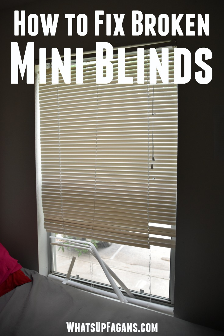 The Ridiculously Easy Way To Fix Broken Mini Blinds