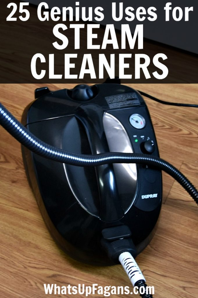 25 genius steam cleaner uses! If you want a great list of things to clean with your steam cleaning machine, these are great tips and ideas!