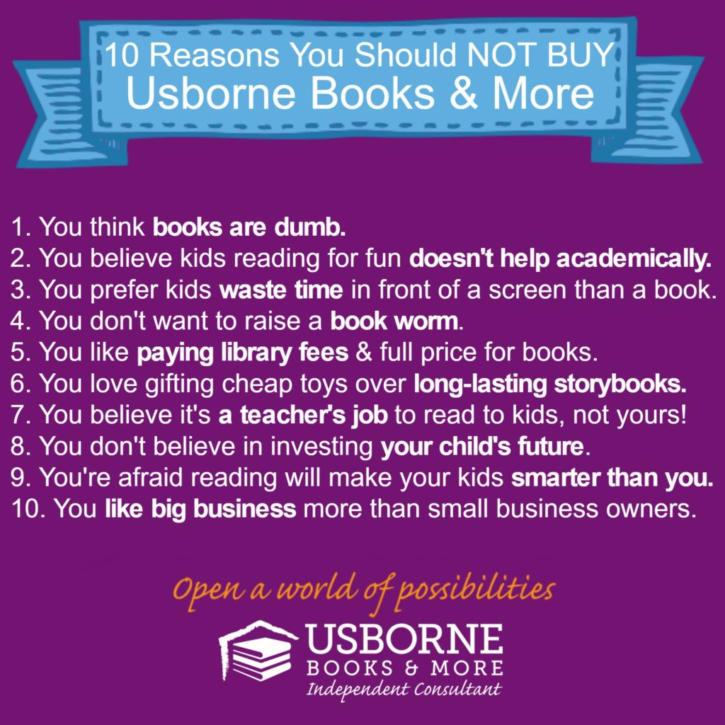 you shouldn't buy usborne books and more