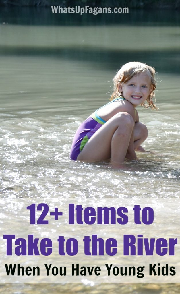 items to take to river swimming with kids