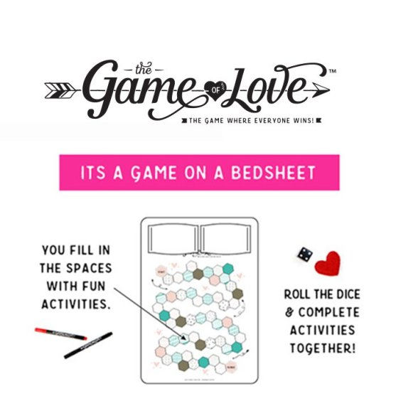 Game of Love Bedsheets - Date Night Made Easy!