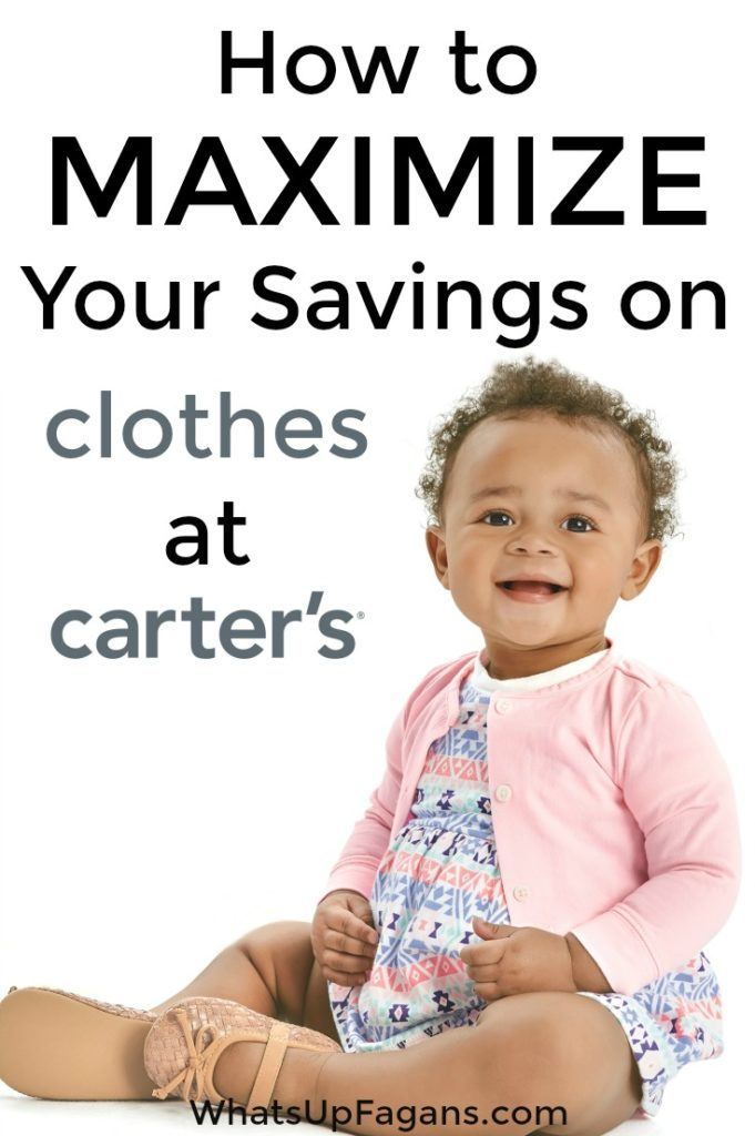 Great post on ways to get brand new baby clothes for used prices! Great tips on saving money at Carter's using Carter's coupons, jumping on sales, and using a smart phone app and more! Perfect if you want to save money on clothes!