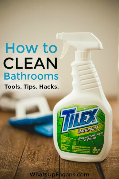 How to clean bathrooms. Best tips for bathroom cleaning.