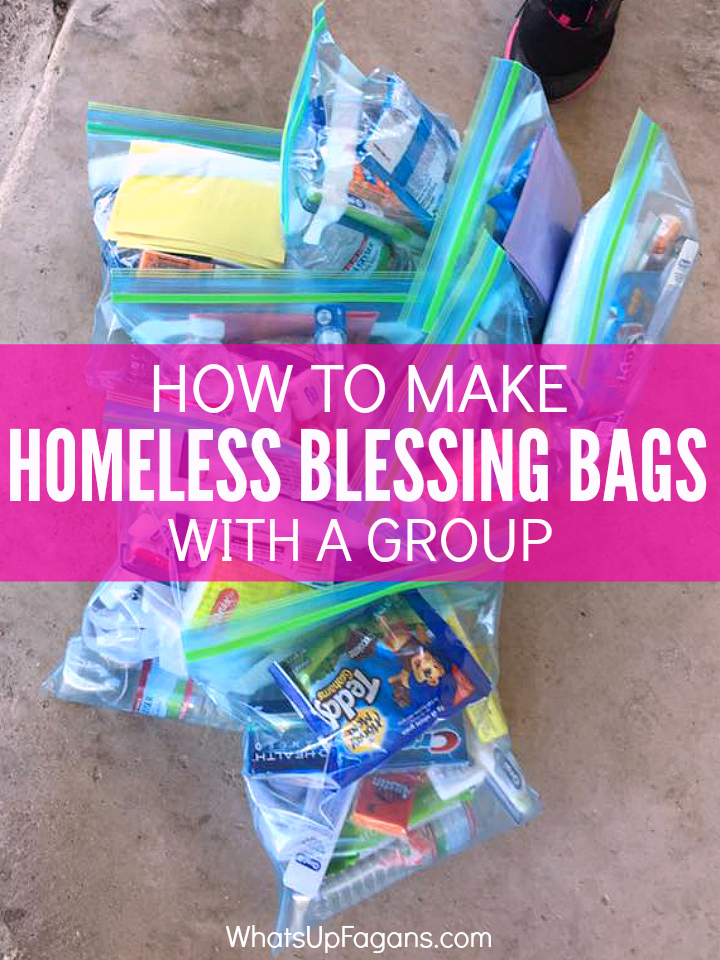Great group service project idea - Blessing Bags - Homeless Gift - Giving to Homeless - Charity. Keep in the back of your car for an easy something to give to people in need.
