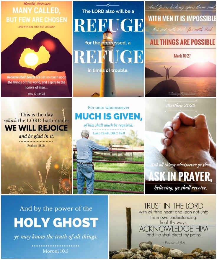 Free scripture printables - Scriptures to memorize in 2017 - Mormon LDS Scripture verses - verses to memorize - KJV Bible scripture verses