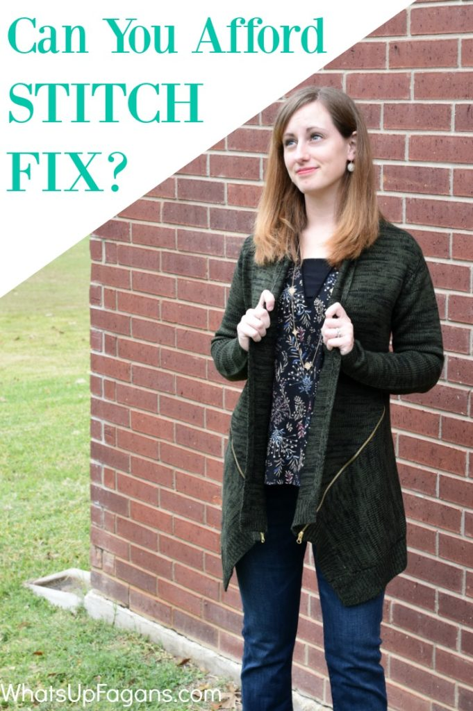 December 2016 Stitch Fix Review - Honest talk about Stitch Fix Prices Costs and whether or not it's worth the expense, especially for cheap, frugal or poor people.