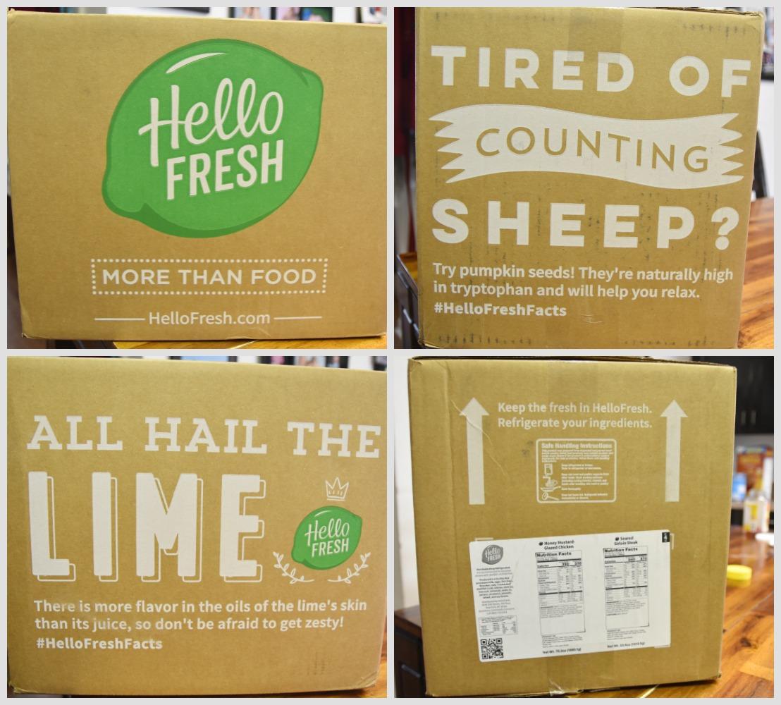 Hello Fresh Delivery Food Box