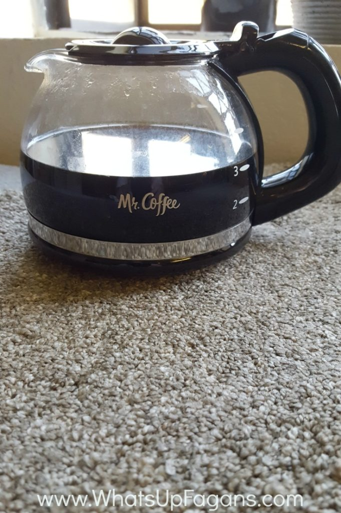coffee on carpet