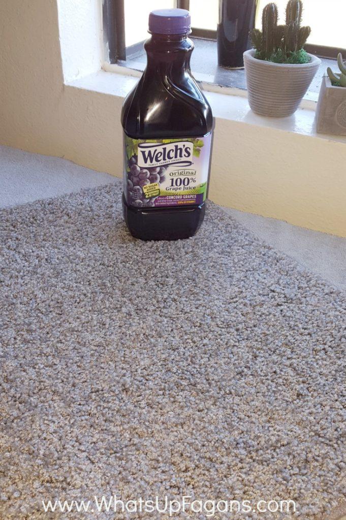grape juice on carpet
