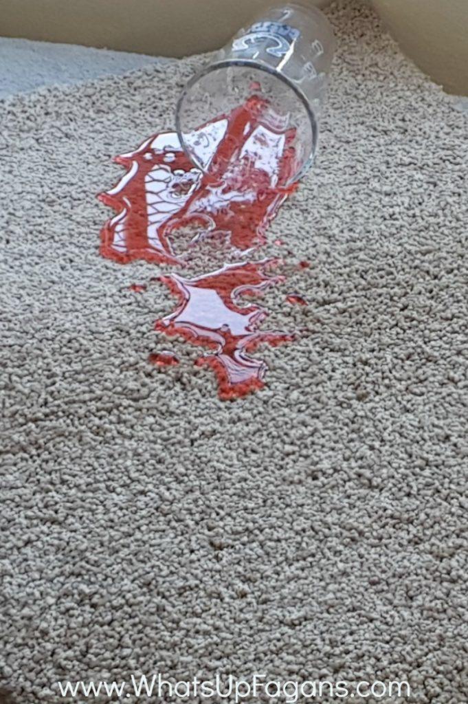 kool-aid spill on carpet