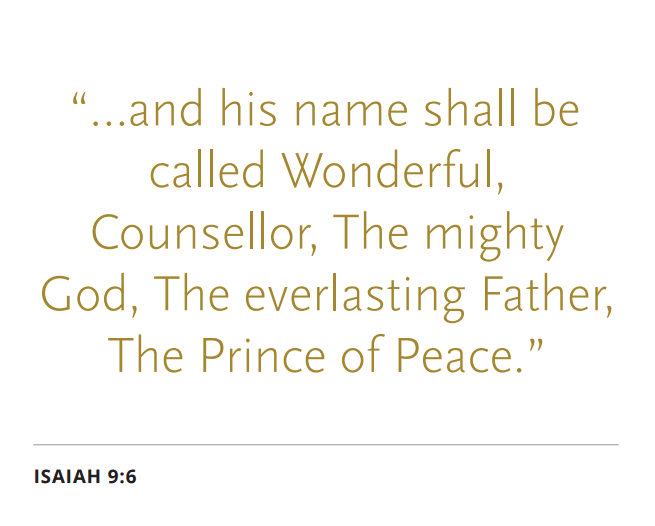 Prince of Peace scripture