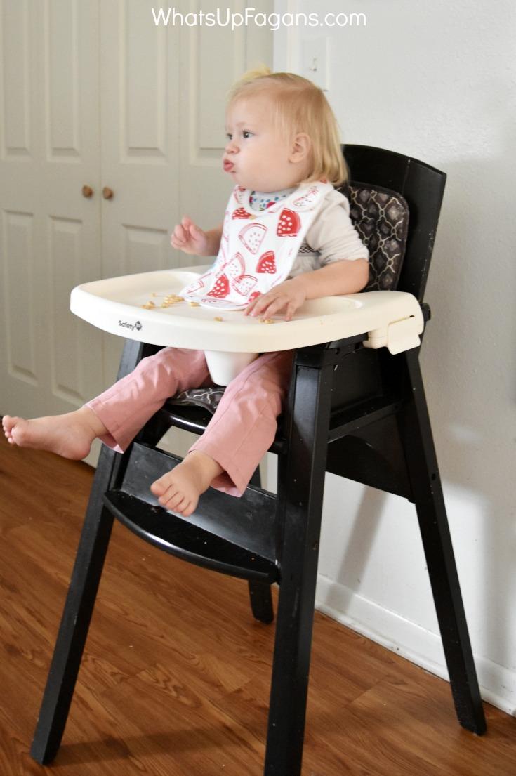 baby feeding essentials supplies - wood high chair