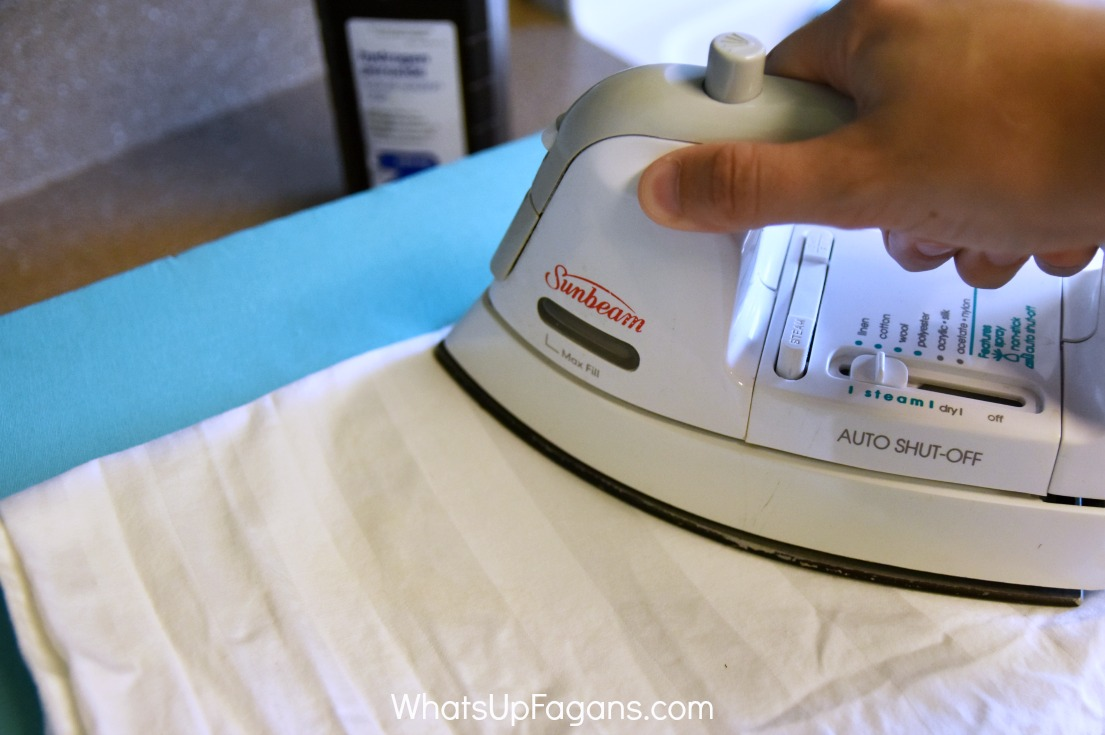 how to remove blood stain with peroxide and hot iron