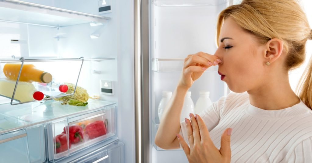 how to remove fridge odor and smells that are really bad - cleaning tips from a professional cleaner! Spring clean your kitchen refrigerator and deodorize and deep clean your appliance with these easy to follow instructions.