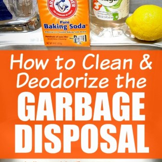 Cleaning instructions and tutorials for how to clean garbage disposal in your kitchen sink!Such a great cleaning tip and cleaning hack to sharpen the disposal blades, clean inside of it, and deodorize it too!