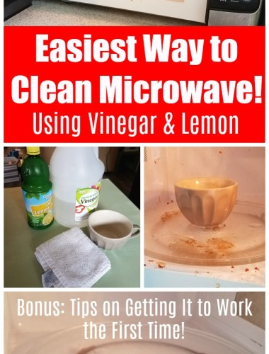 Cleaning tutorial and instruction on how to clean microwave with vinegar and lemon juice | kitchen appliance cleaning hack | easy cleaning tip | natural green cleaning