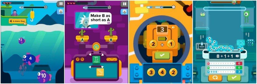 Zap Zap Kindergarten Math App Review Screenshots
