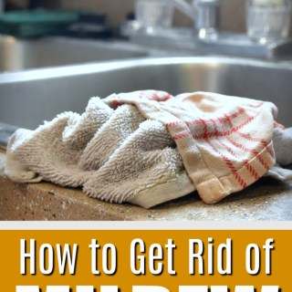 Remove Mildew Smell from Kitchen Dish Cloths and Kitchen Towels with this laundry odor remover tutorial