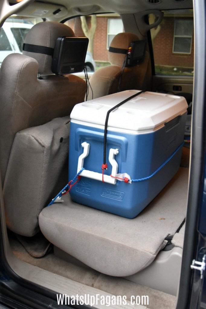 preparing a car for a road trip