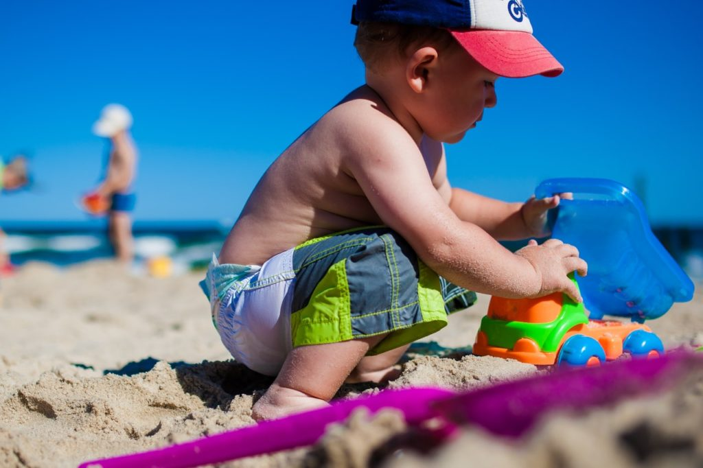 what to pack for a trip to the beach with a baby - checklist - packing list - day trip to beach