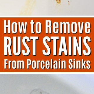 How to remove rust stains on porcelain sinks   Rust Stain Removal   Bathroom sink cleaning tip tutorial