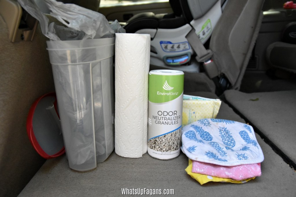 how to clean up vomit in car